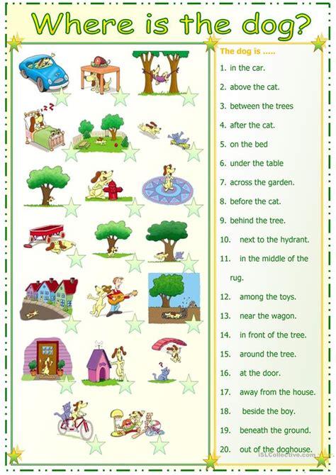 preposition match worksheet free esl printable
