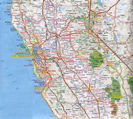 california road map with cities northern california