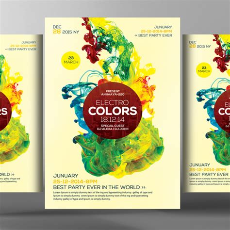 futuristic colors futuristic colors flyer psd template template for free