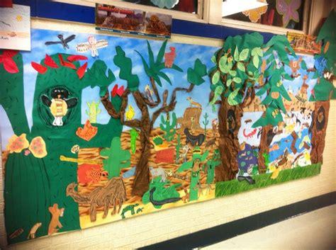 Daycare Wall Murals my first grade desert and forest habitat mural desert