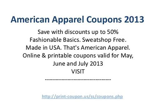 american apparel coupon code may 2018