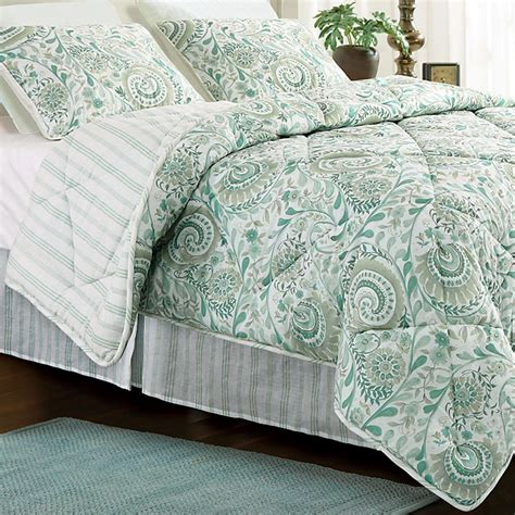 ivy comforter set ivy hill home erin comforter set king in blue paisley