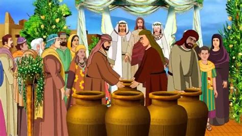 Bible Wedding At Canaan by Jesus Turns Water Into Wine In The Wedding At Cana Bible