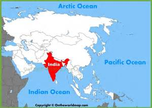 India On The Map by India Location On The Asia Map