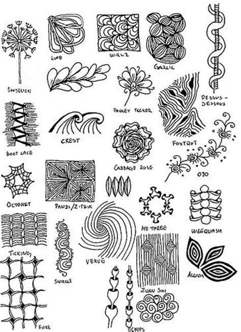 doodle page ideas zentangle 121 inspiration page zentangle more