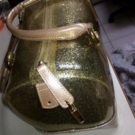Emerald Jelly Bag Black 62 no brand handbags gold glitter jelly bag