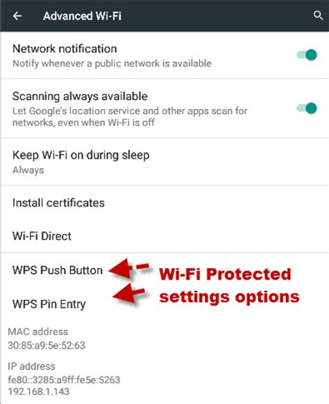 advanced settings android understanding android wi fi settings and connections