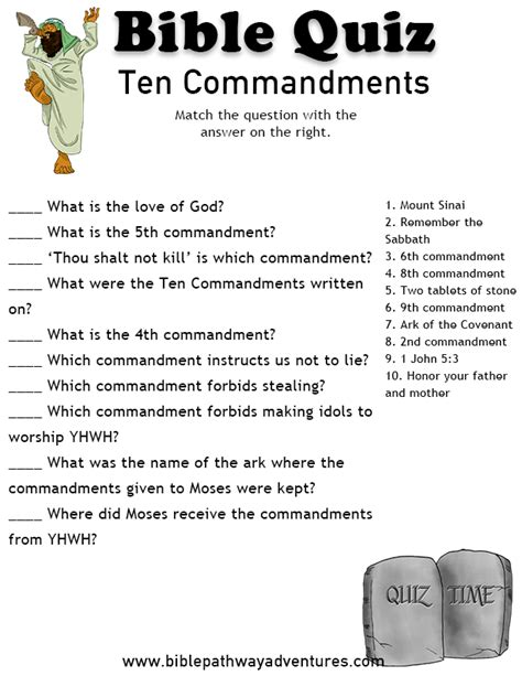 Printable Bible Questions