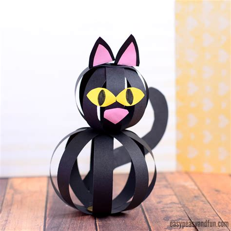 cat craft for cat craft with paper strips easy peasy and