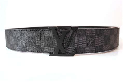 louis vuitton initials damier graphite belt 95 image 2
