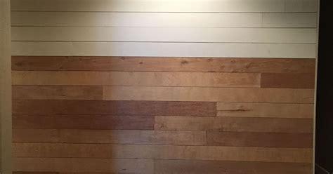 Inexpensive Shiplap Diy Shiplap Wall Easy Cheap And Beautiful Part 1