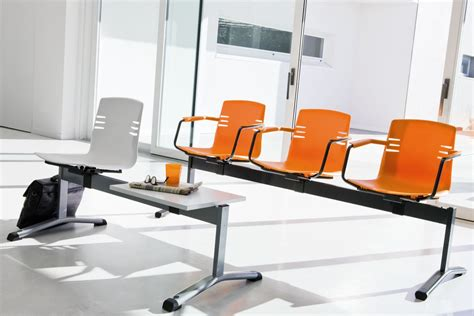 bench with seats with armrests for waiting rooms idfdesign