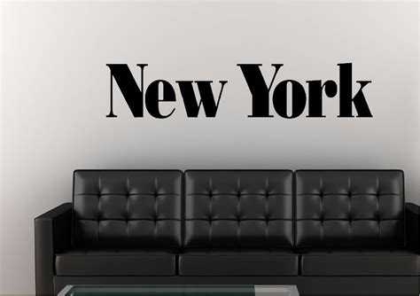 wall stickers new york new york lettering modern wall stickers adhesive wall sticker