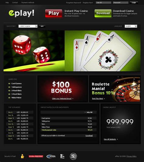 casino template casino website template web design templates