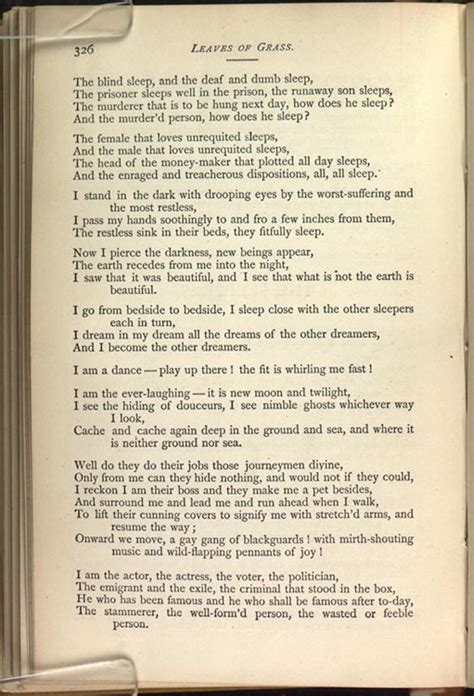 The Sleepers Walt Whitman by Notes And Exles For Quot The And Unmaking Of Walt