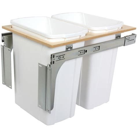 in cabinet trash cans for the kitchen knape vogt 19 in h x 14 in w x 23 in d wooden 35 qt undermount soft pull out