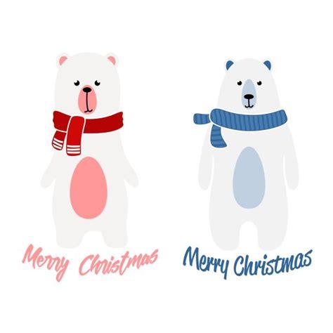 merry christmas polar bear cuttable design