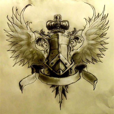 crest tattoo designs coat of arms on family crest family