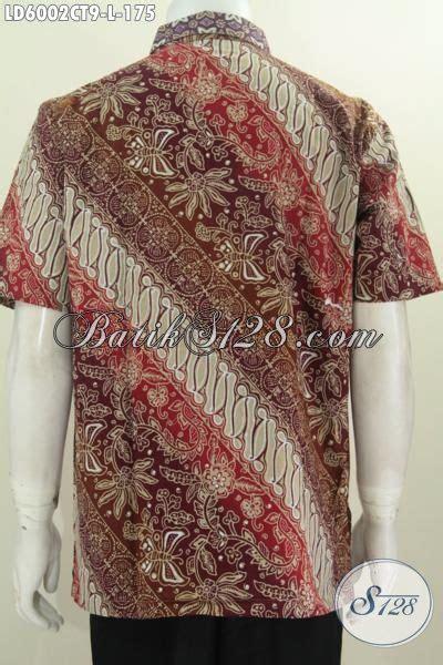 Baju Pakaian Pria Busana Kemeja Pendek Motif Batik Murah 3 busana batik lengan pendek motif terbaru pakaian batik lelaki masa kini desain modis serta