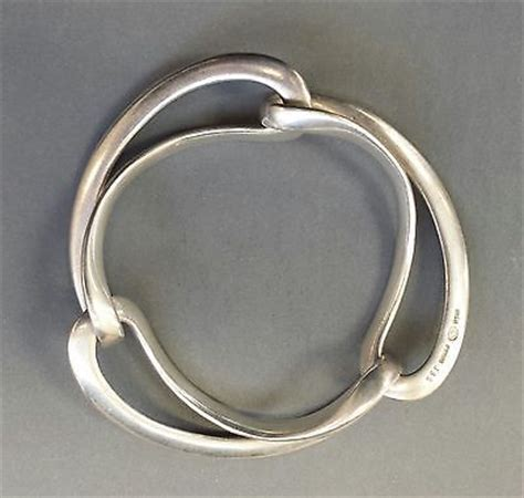 jee ed silver infinity loop bangle details about vintage georg sterling 925 silver