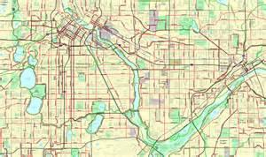 Bike Map The Isla De Muerta Of Paul Biking Streets Mn