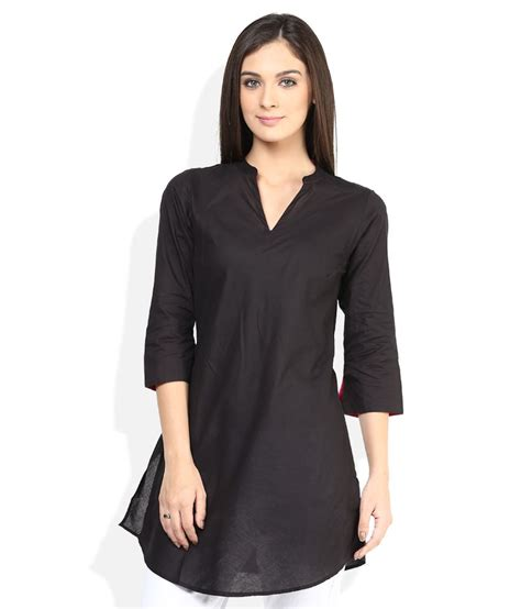 I Tunic buy fabindia black solid tunic at best prices in india snapdeal