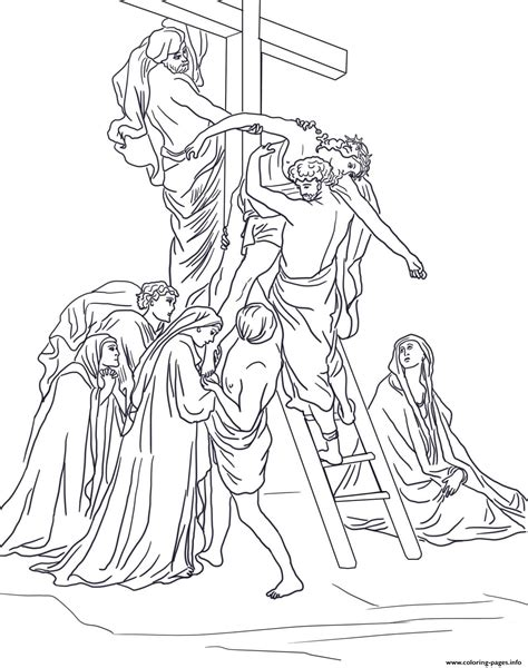 Good Friday 13 Thirteenth Station Jesus Is Taken Down From 13 Coloring Book Images Of