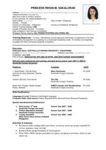 Format On How To Make A Resume by Sle Resume Format Berathen