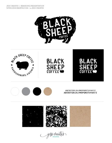 black sheep coffee logo graphic design logo presentation