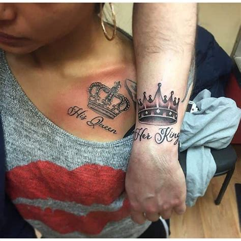 his and her crown tattoos 25 amazing images of king and tattoos sheideas