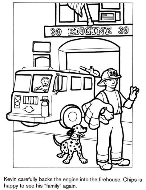 firefighter coloring page fire truck party pinterest