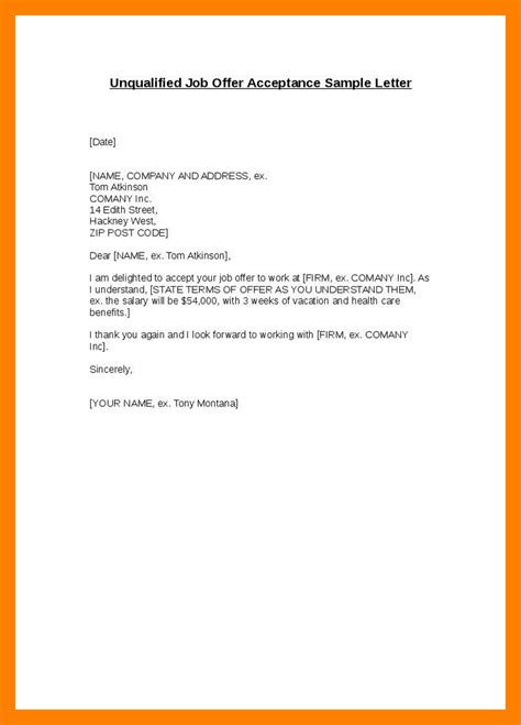 Email Cover Letter For Offer 7 Acceptance Email Protect Letters