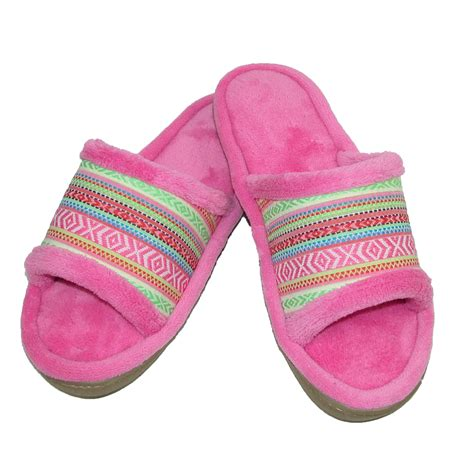 isotoner microterry slippers new isotoner s microterry mallory striped slide