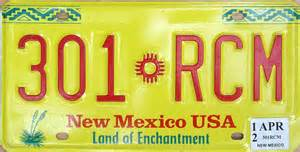 New Mexico Vanity Plates by New Mexico 2 Y2k