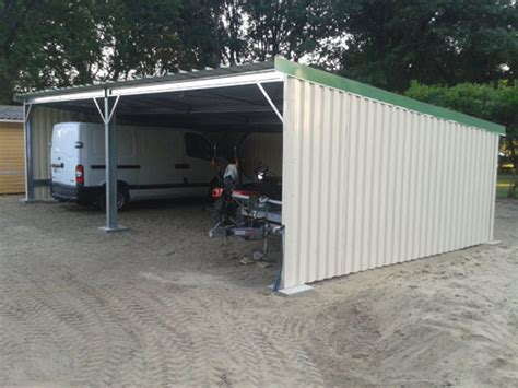Garage Metallique En Kit 40m2 4108 by Abris Modulables Simple Pente En Kit Direct Charpente