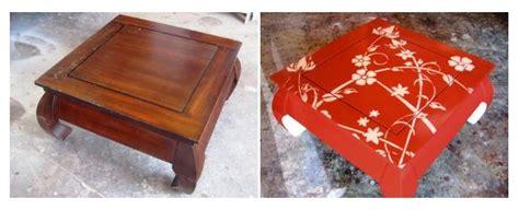 comment peindre au pochoir sur une table en bois