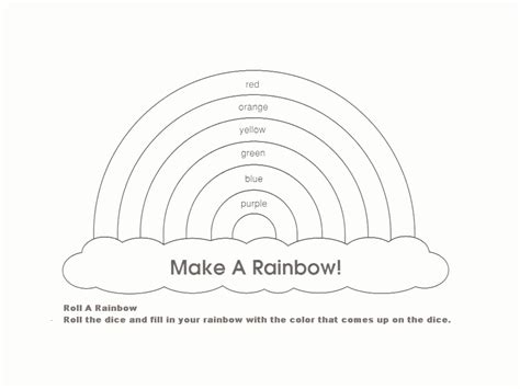 rainbow templates to colour rainbow template rainbow or wizard of oz