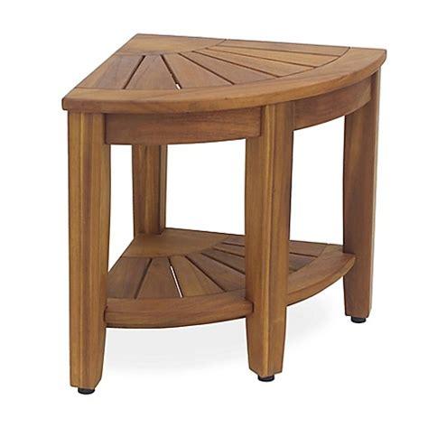 Solid Teak Corner Vanity Stool solid teak corner vanity stool bed bath beyond