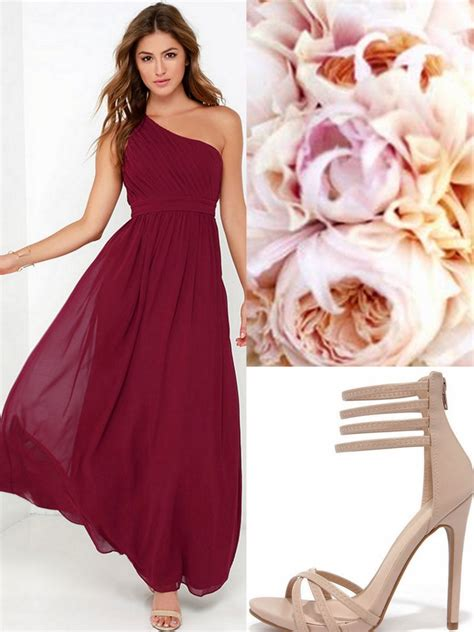 oxblood burgundy bridesmaid dresses