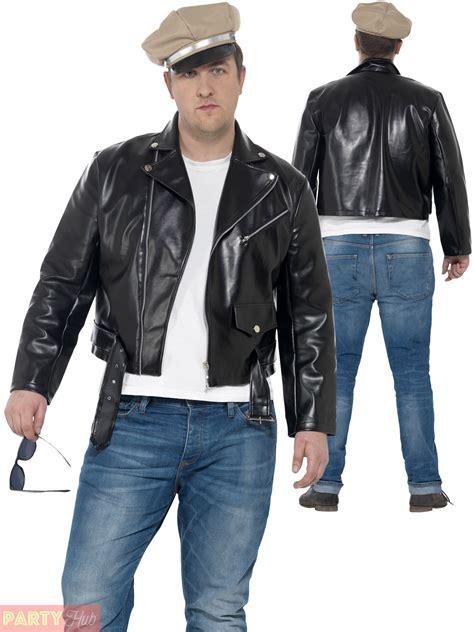 men style 60 plus mens 50s rebel costume adults biker mod fancy dress 1950s