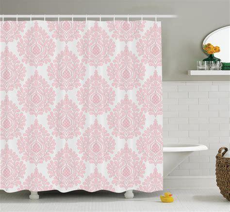 victorian shower curtains shower curtain damask decor pink victorian elegant design