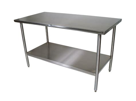 Stainless Steel Kitchen Table stainless steel kitchen island table 24x36 with adjustable