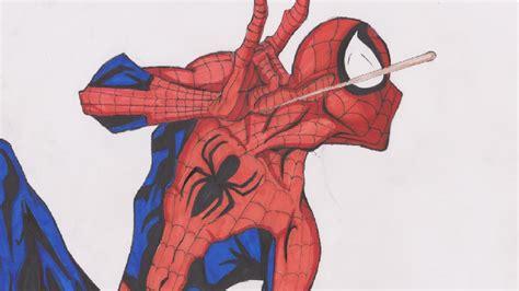 imagenes de spiderman para dibujar a lapiz speed painting spiderman dibujo spiderman a color