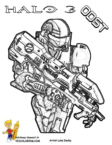 coloring pages to print halo 3 halo3 free halo3