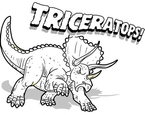dinosaur coloring pages triceratops 19563