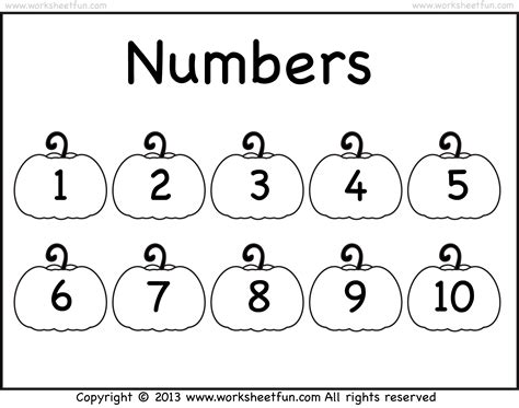 free printable numbers 1 to 10 search results for number 10 worksheet pre k calendar 2015