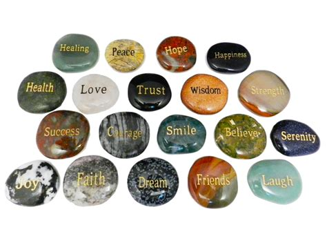 Gemstone Home Decor by Worry Stone With Words
