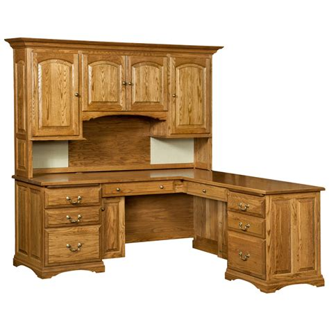 Oak Desks With Hutch Oak Corner Desk With Hutch Images