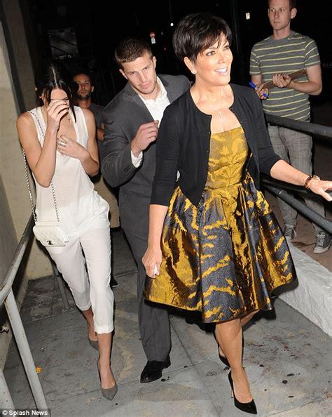 Kris Jenner wears the same velvet frock for the second