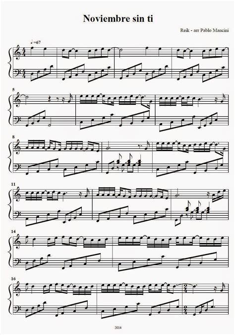 reik noviembre sin ti lyrics partitura piano noviembre sin ti reik reik es una banda